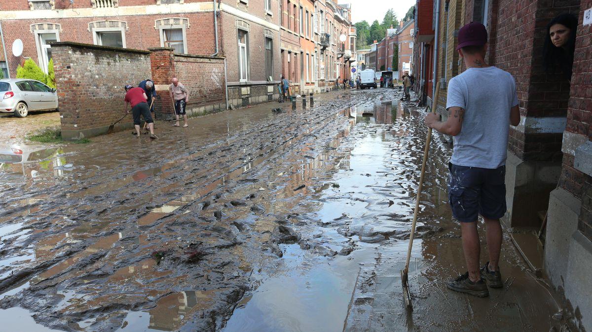 Überschwemmungen in Namur
