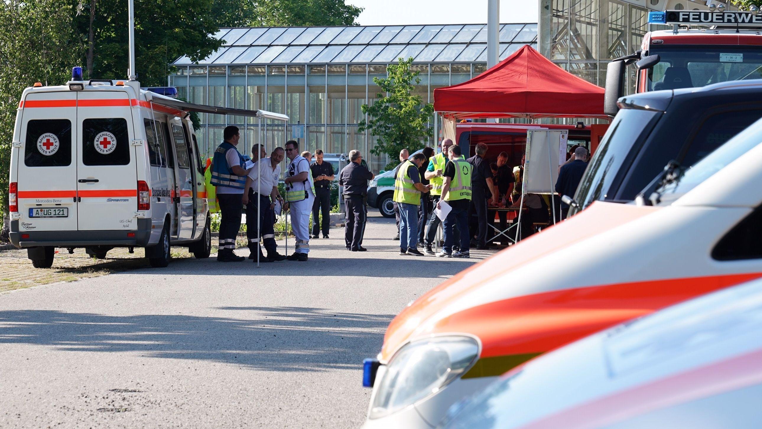 Vorbereitungen zur Evakuierung in Augsburg