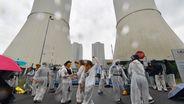 Protestaktion gegen den Taggebau | Bild:picture alliance/dpa