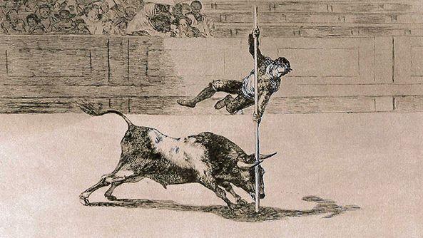 Stierkämpfer mit Stier