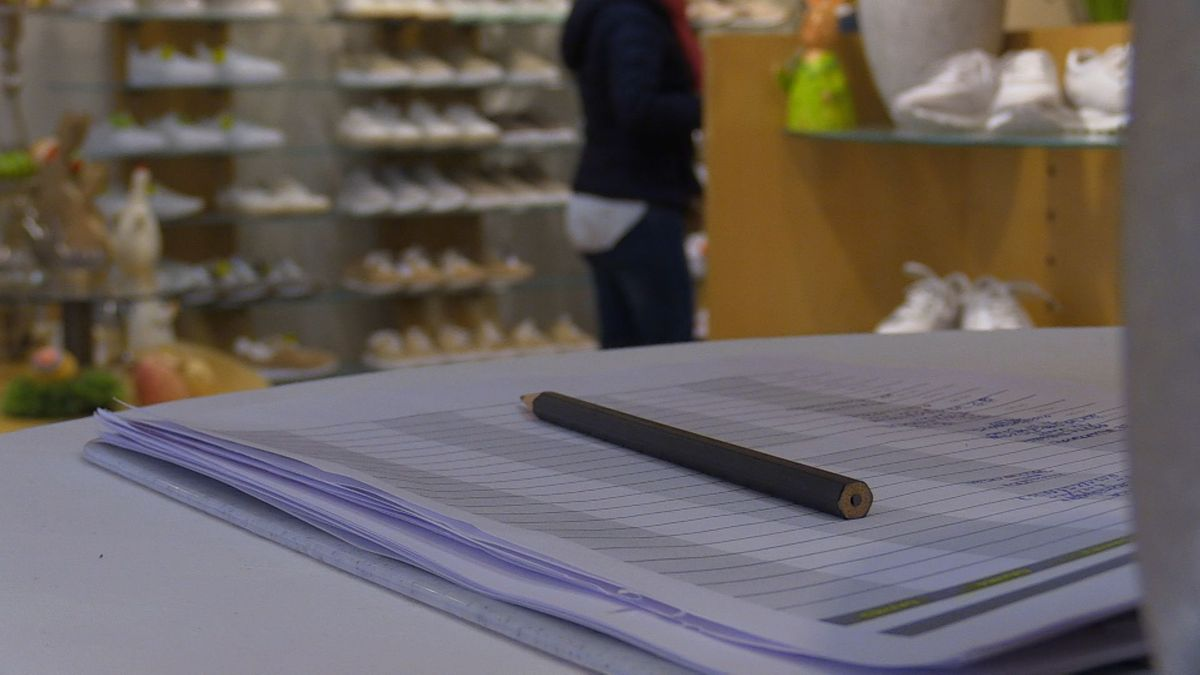Terminliste bei einem Schuhladen in Landshut
