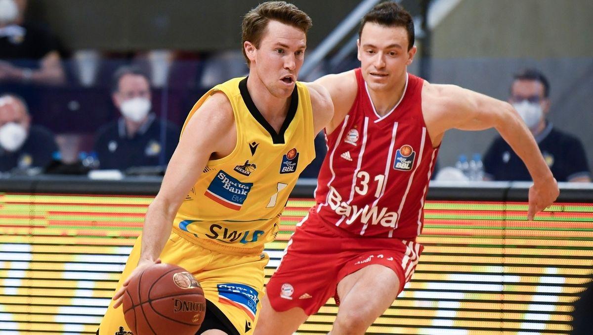 Spielszene Ludwigsburg - FC Bayern Basketball