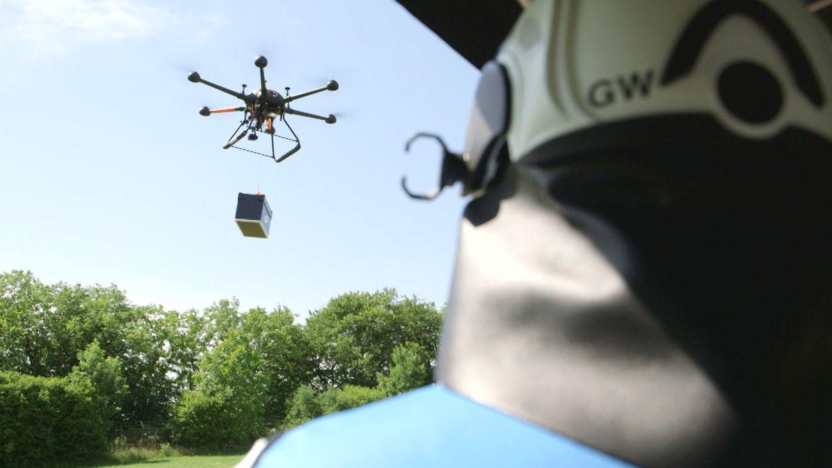 Drohne in Erprobung beim THW