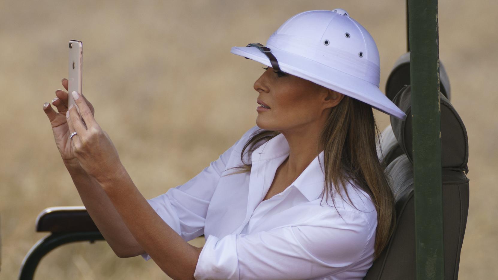 Melania Trump, First Lady der USA, fotografiert am 05.10.2018 auf einer Safari in Kenia.