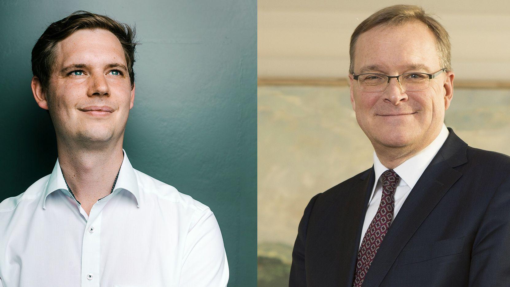 Der amtierende Bamberger Oberbürgermeister Andreas Schwarz muss in der Stichwahl gegen Jonas Glüsenkamp antreten
