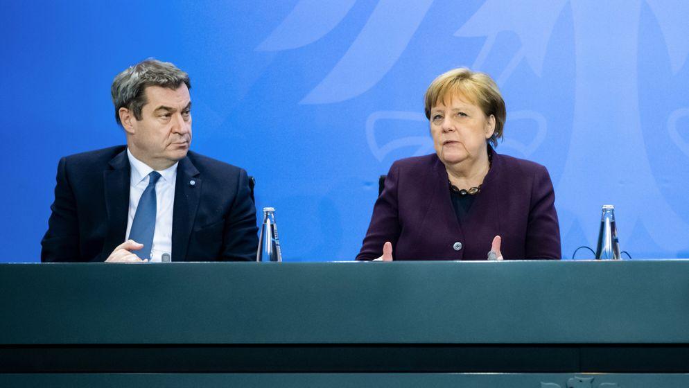 Angela Merkel und Markus Söder | Bild:dpa/pa, Bernd von Jutrczenka