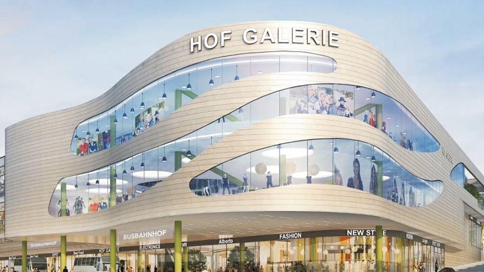 Hof Galerie Planungsskizze