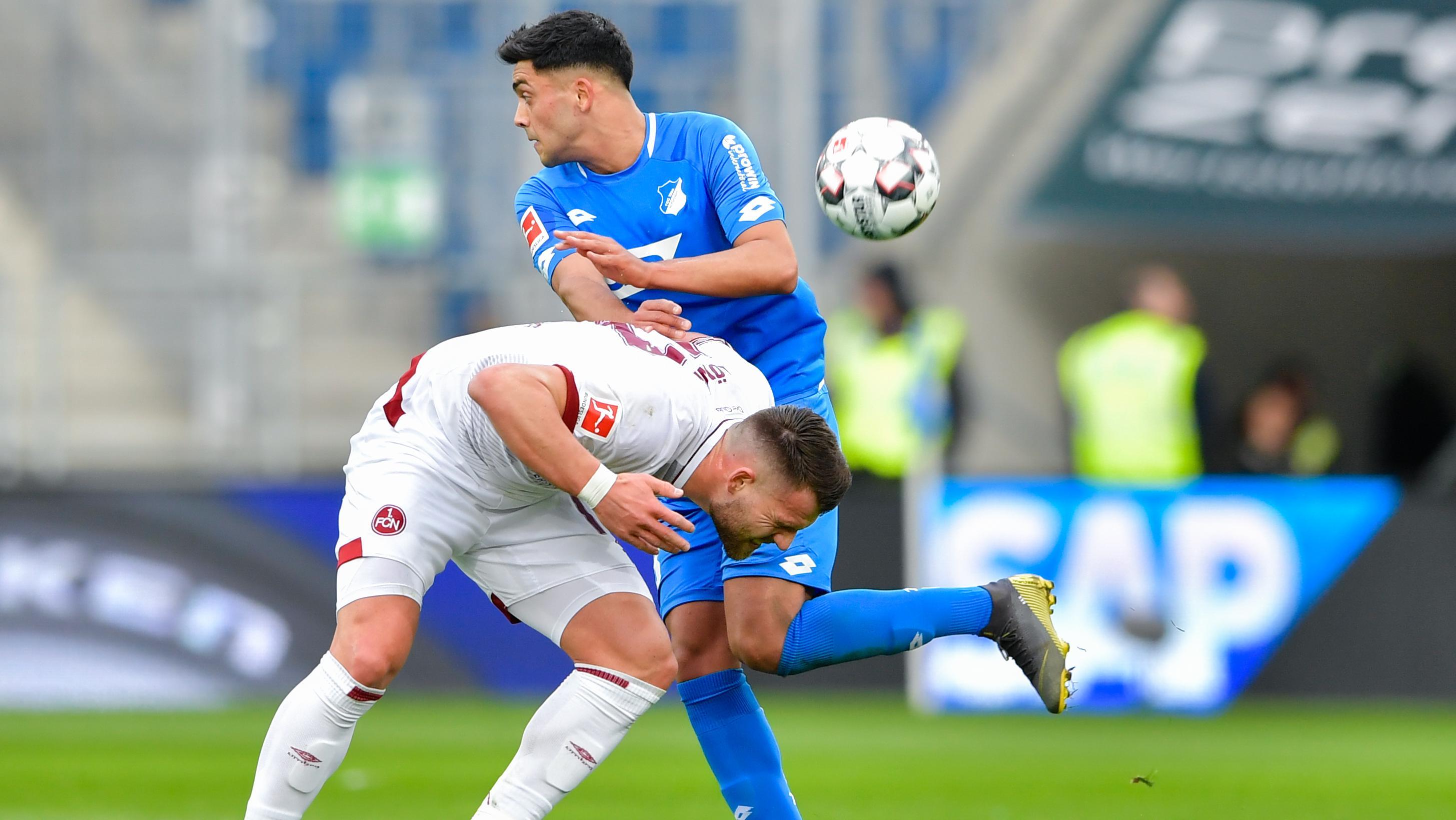 Szene aus dem Spiel Hoffenheim gegen Nürnberg