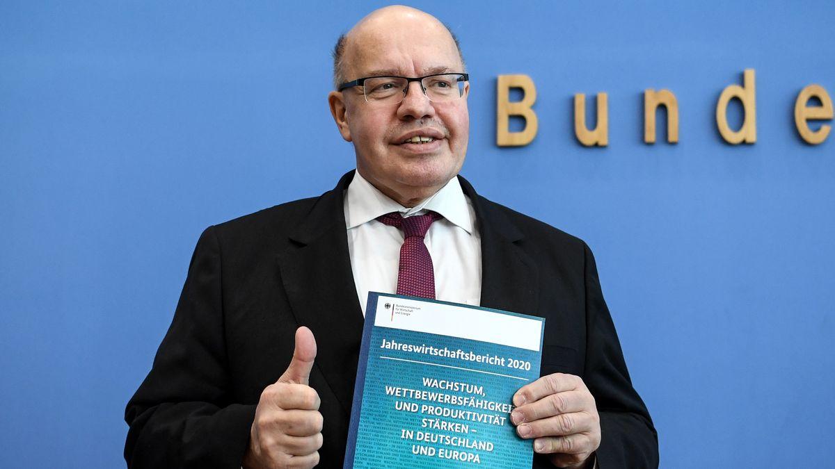 Bundeswirtschaftsminister Altmaier präsentiert den Jahreswirtschaftsbericht 2020