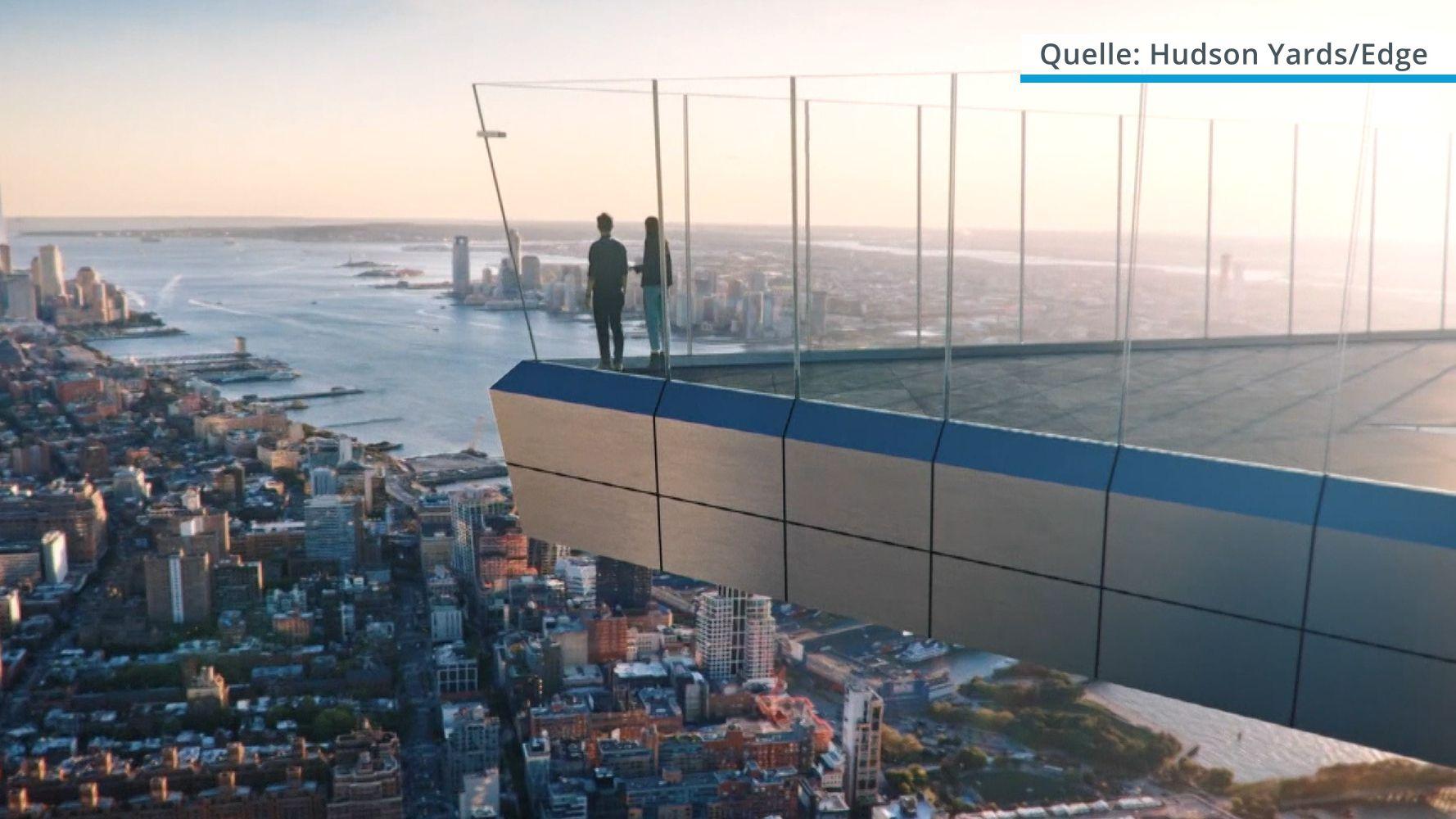 """Die New Yorker Aussichtsplattform """"Edge"""" im Luxusviertel """"Hudson Yards"""""""