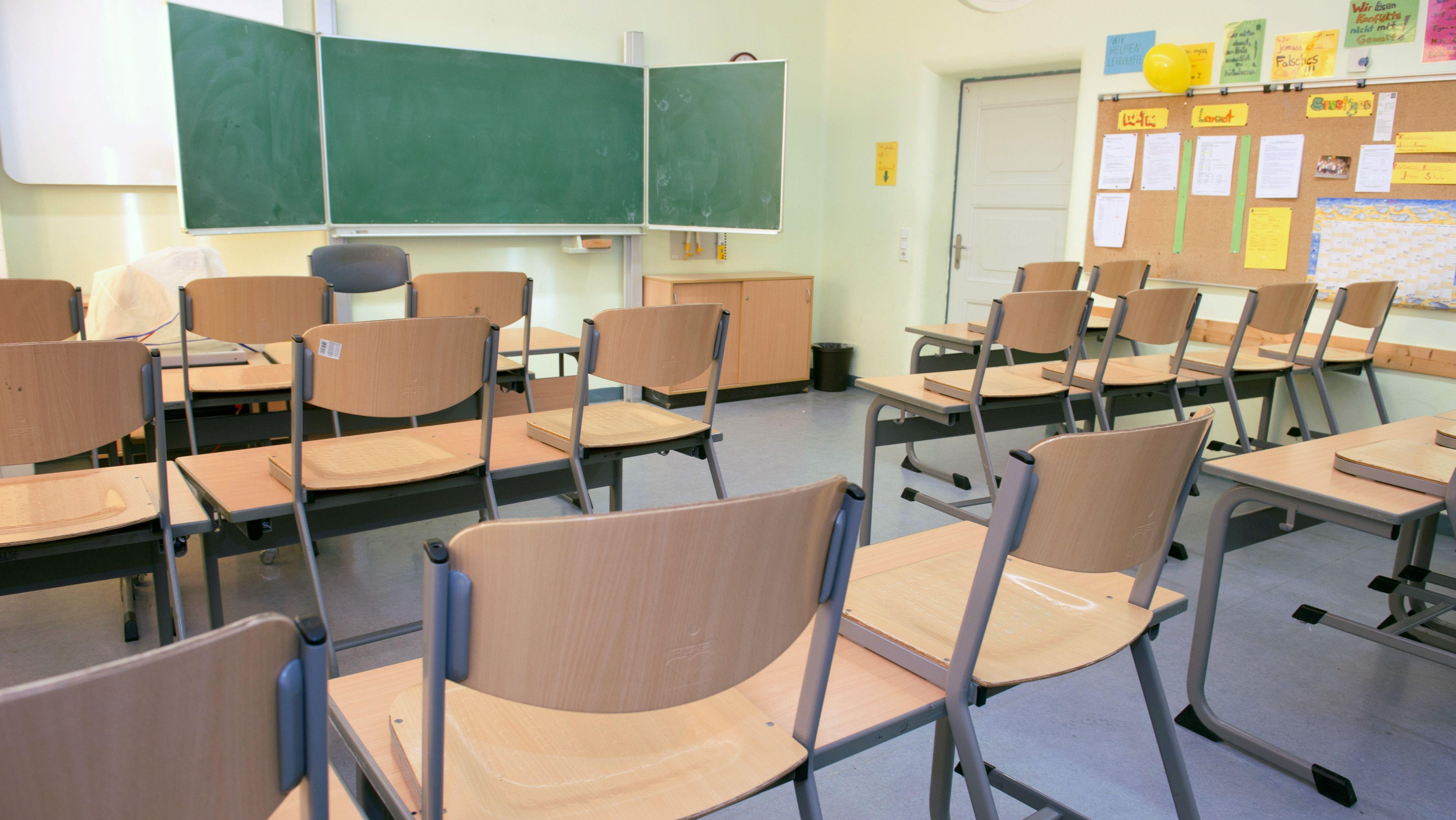 leeres Klassenzimmer(Symbolbild)