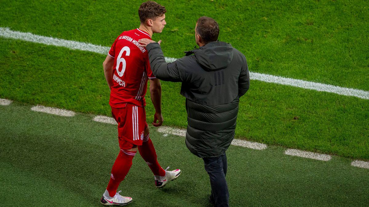 FC Bayern-Trainer Hansi Flick und Joshua Kimmich