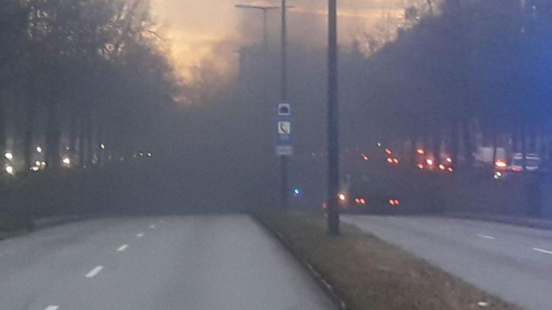 Starker Rauch am Tunneleingang