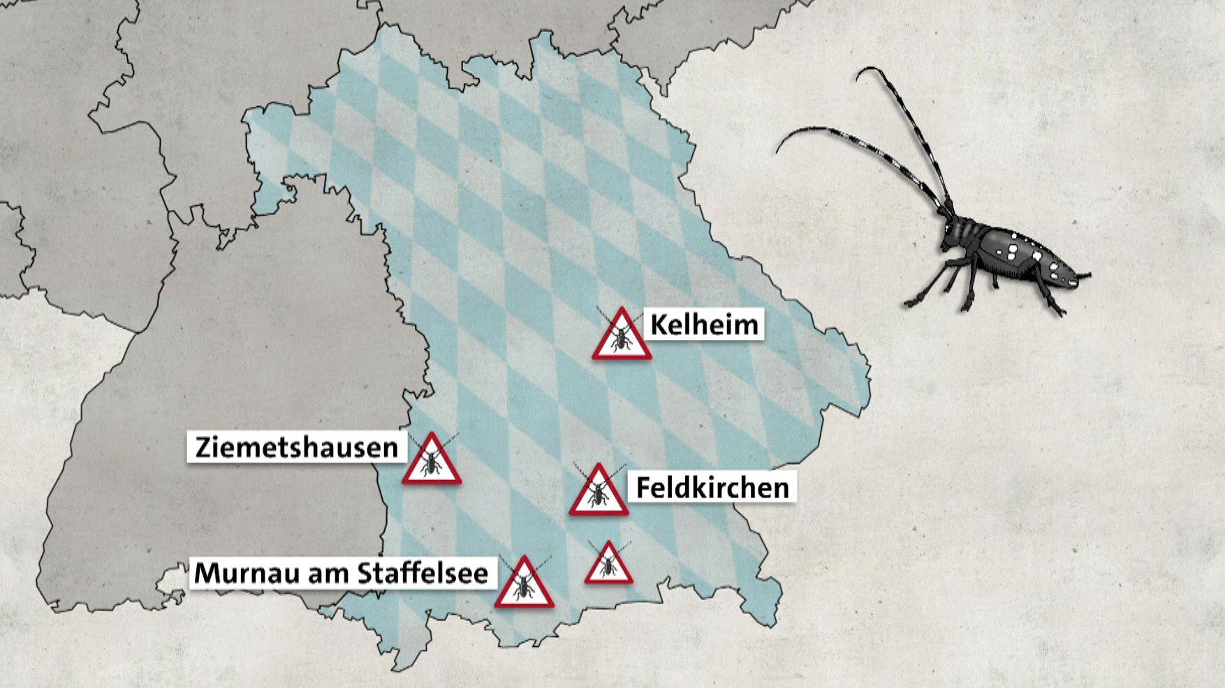 Grafik über ALB-Standorte in Bayern