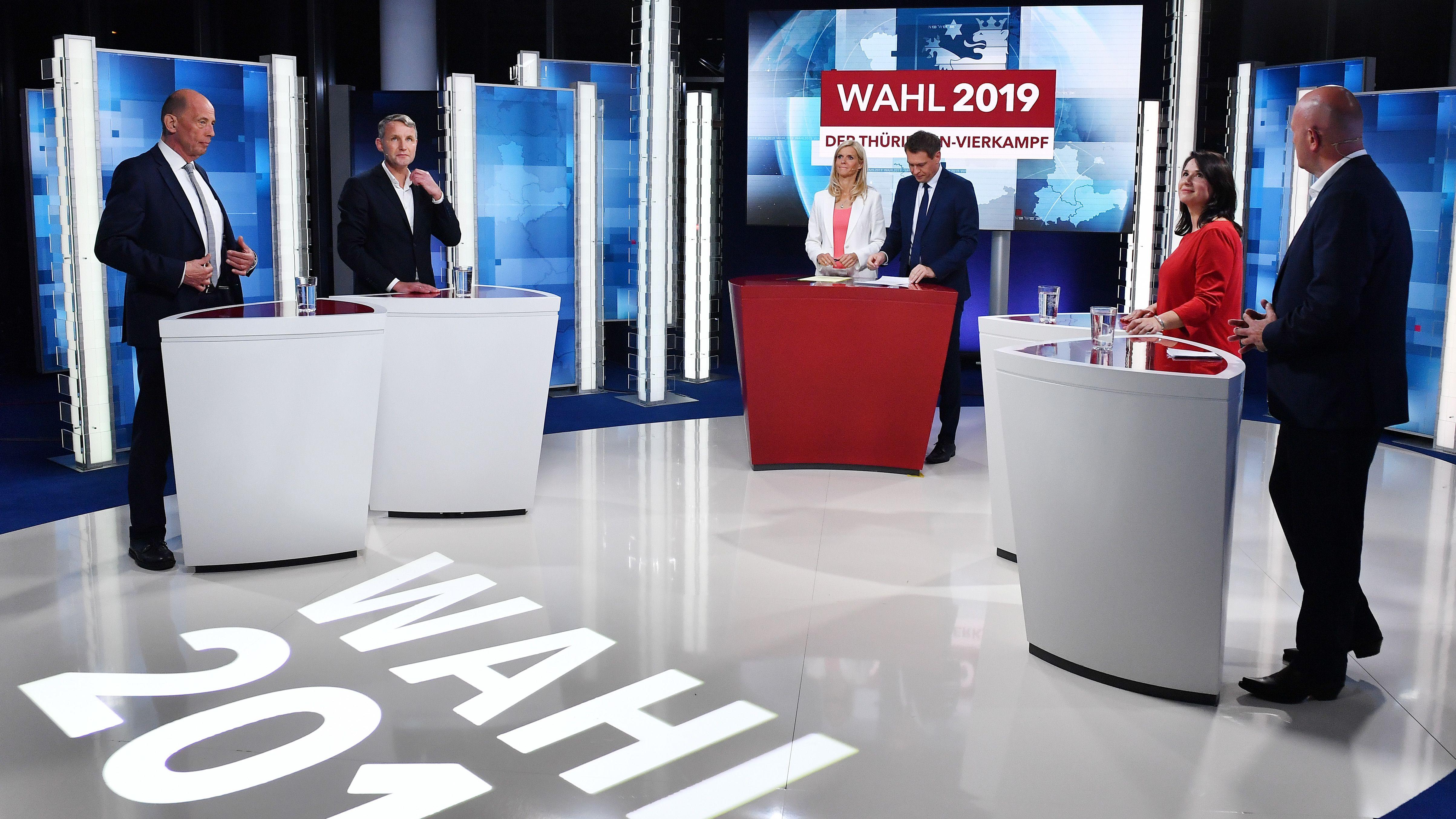 TV-Duell zur Landtagswahl Thüringen
