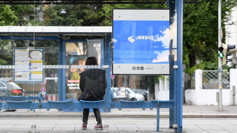 Bushaltestelle in München