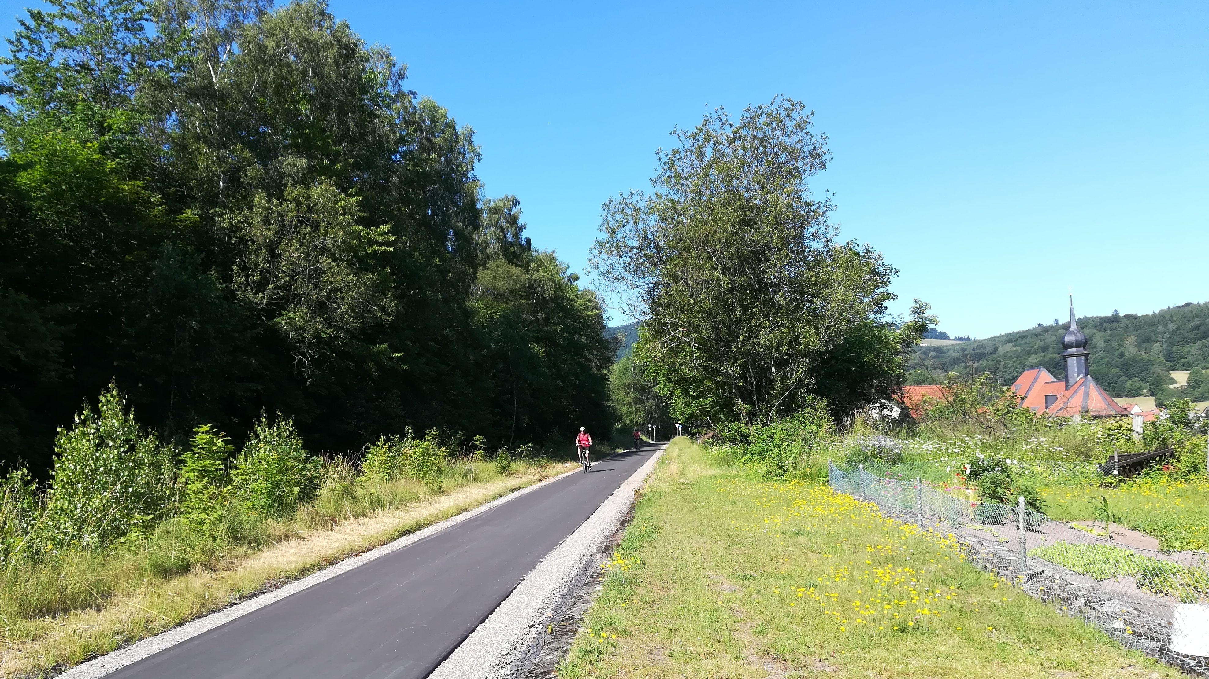 Neuer Radweg bei Wildflecken
