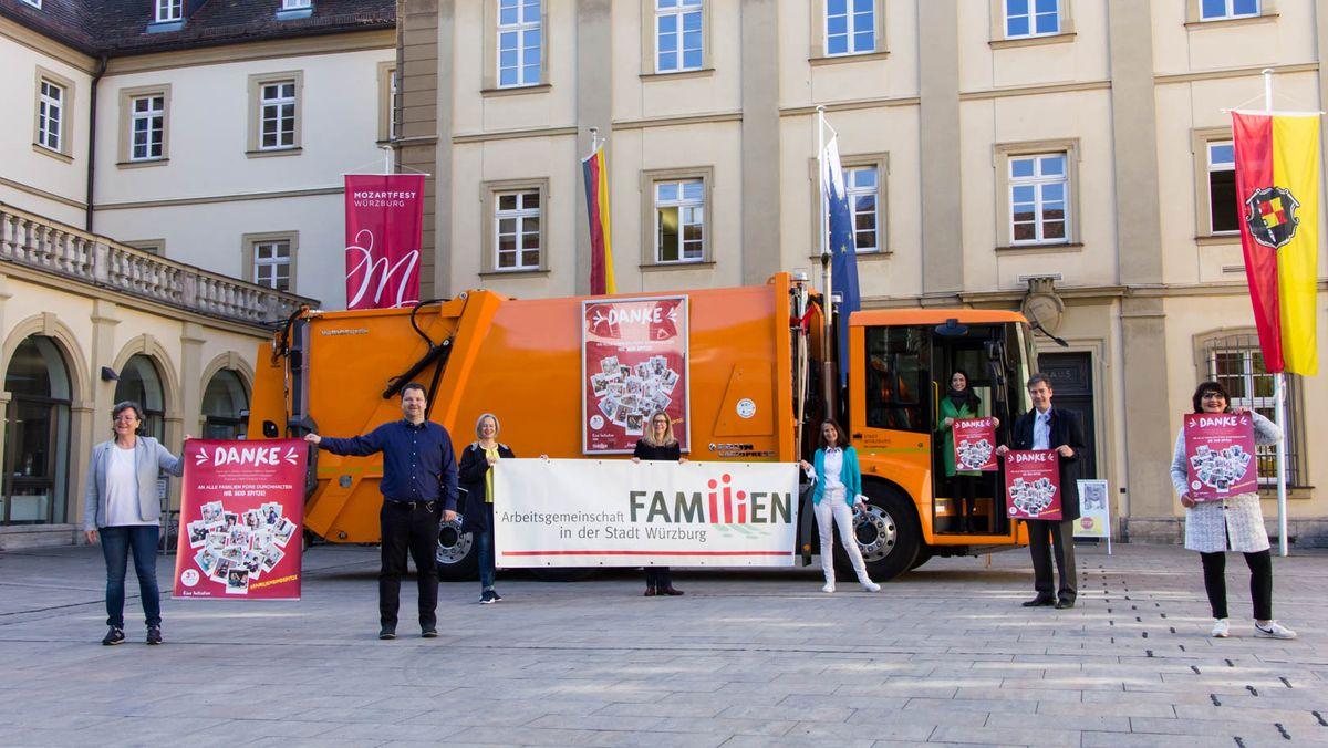 Plakataktion in Würzburg