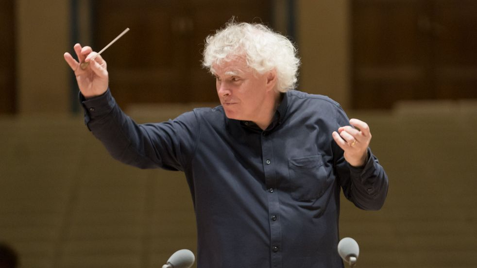 Der Dirigent mit Taktstock