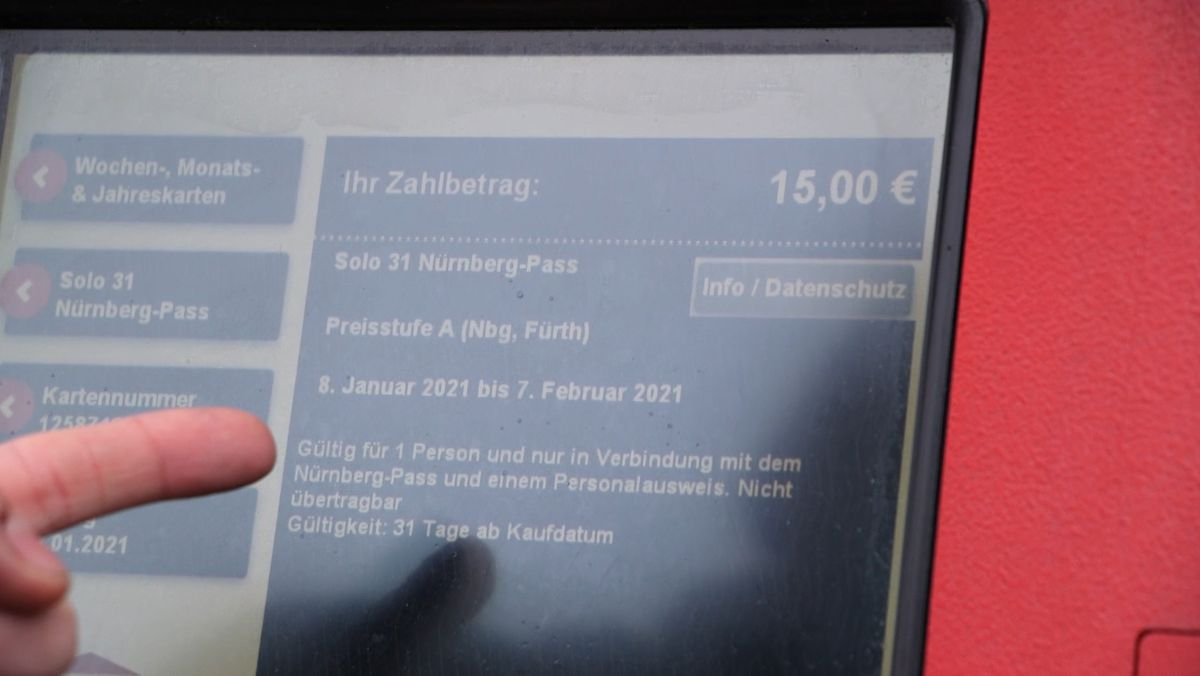 Fahrkartenautomat-Display