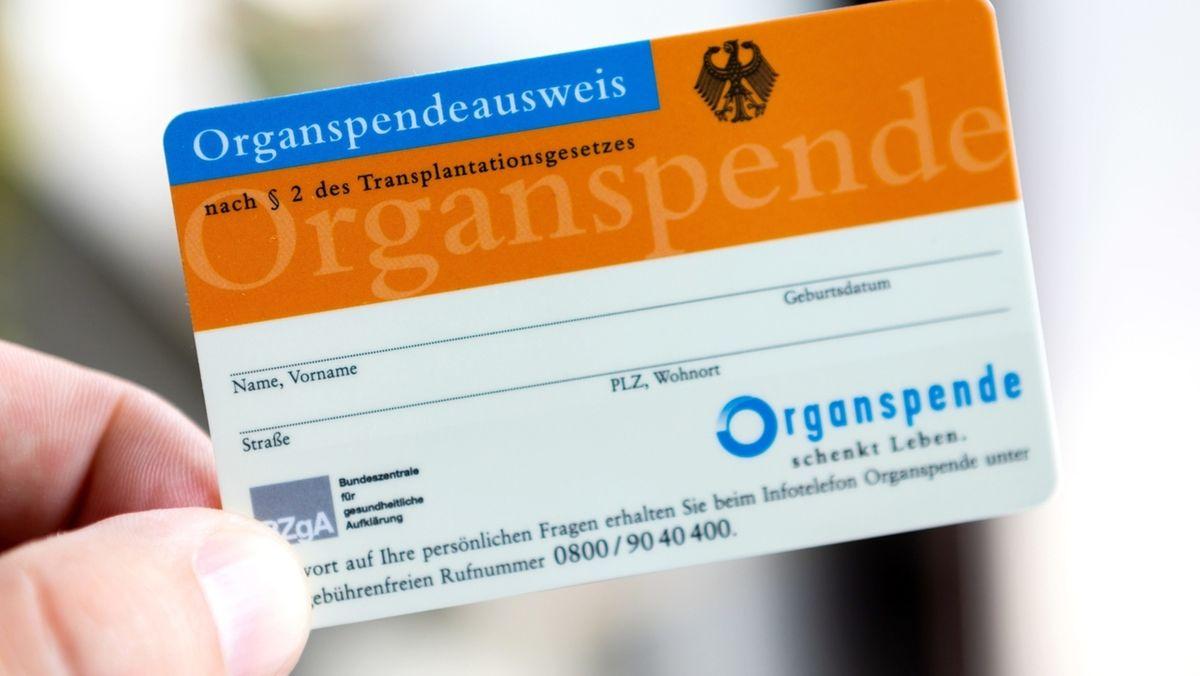 Eine Hand hält einen Organspende-Ausweis