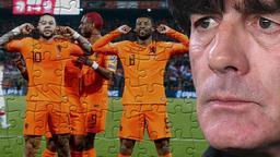 Niederländische Nationalspieler feier ein Tor und Bundestrainer Joachim Löw | Bild:picture-alliance/dpa; Collage: BR Sport