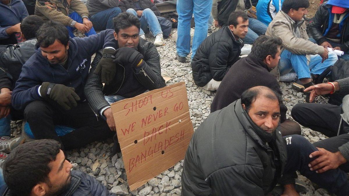 24. November 2015, Griechisches Flüchtlingslager Idomeni.