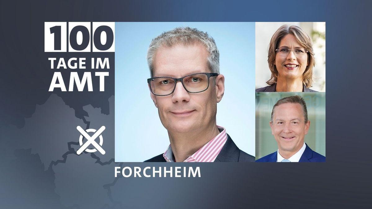 Oberbürgermeister Uwe Kirstein mit Brille, Erster Bürgermeister Udo Schönfelder und Zweite Bürgermeisterin Annette Prechtel schauen in die Kamera des Fotografen