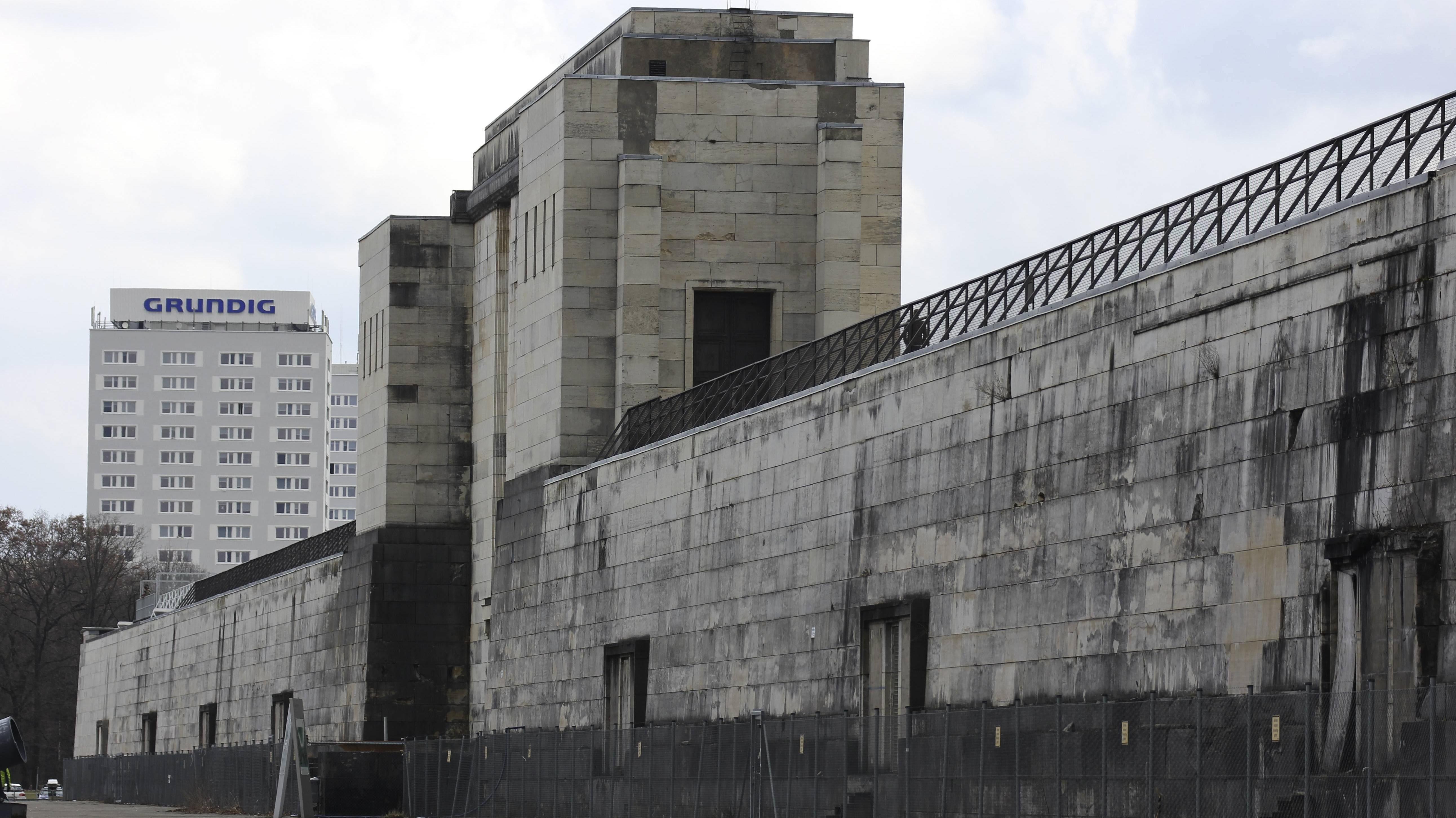 Reichsparteitagsgelände in Nürnberg: Zeppelintribüne, Rückseite