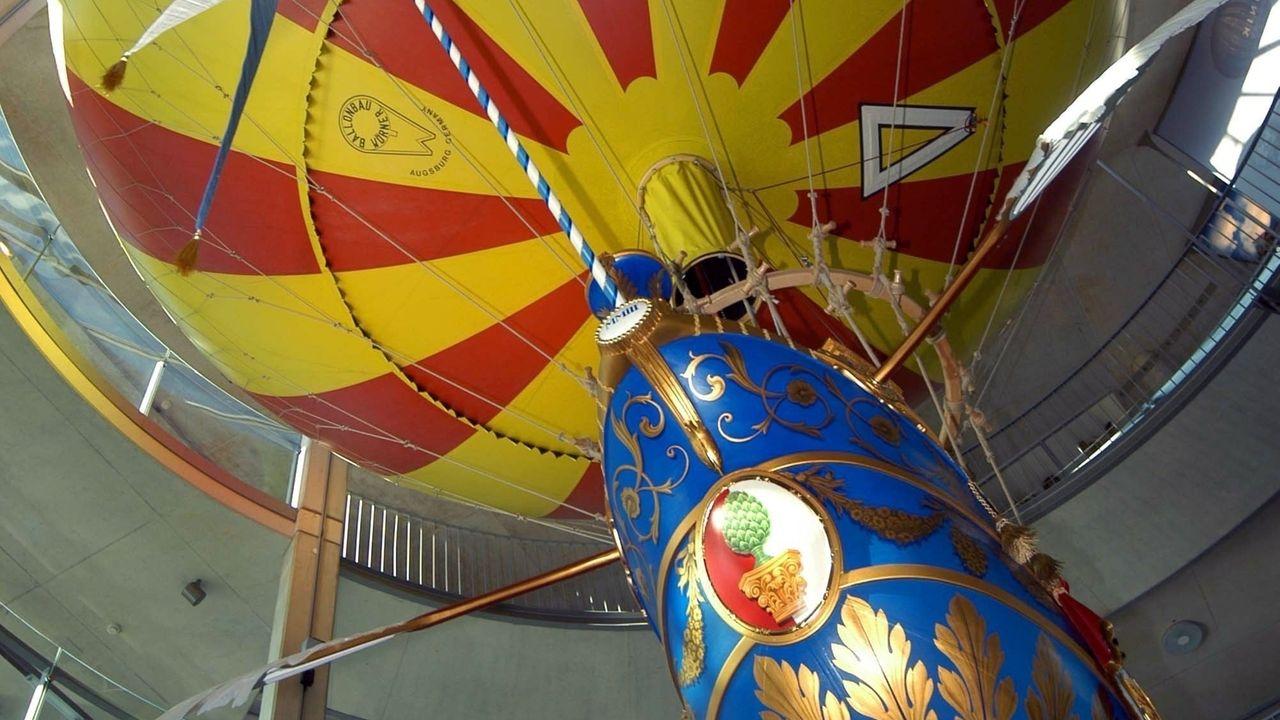 Die nachgebaute historische Ballongondel mit der Joseph Maximilian Freiherr von Lütgendorf vor 250 Jahren versucht hat, zu fliegen.