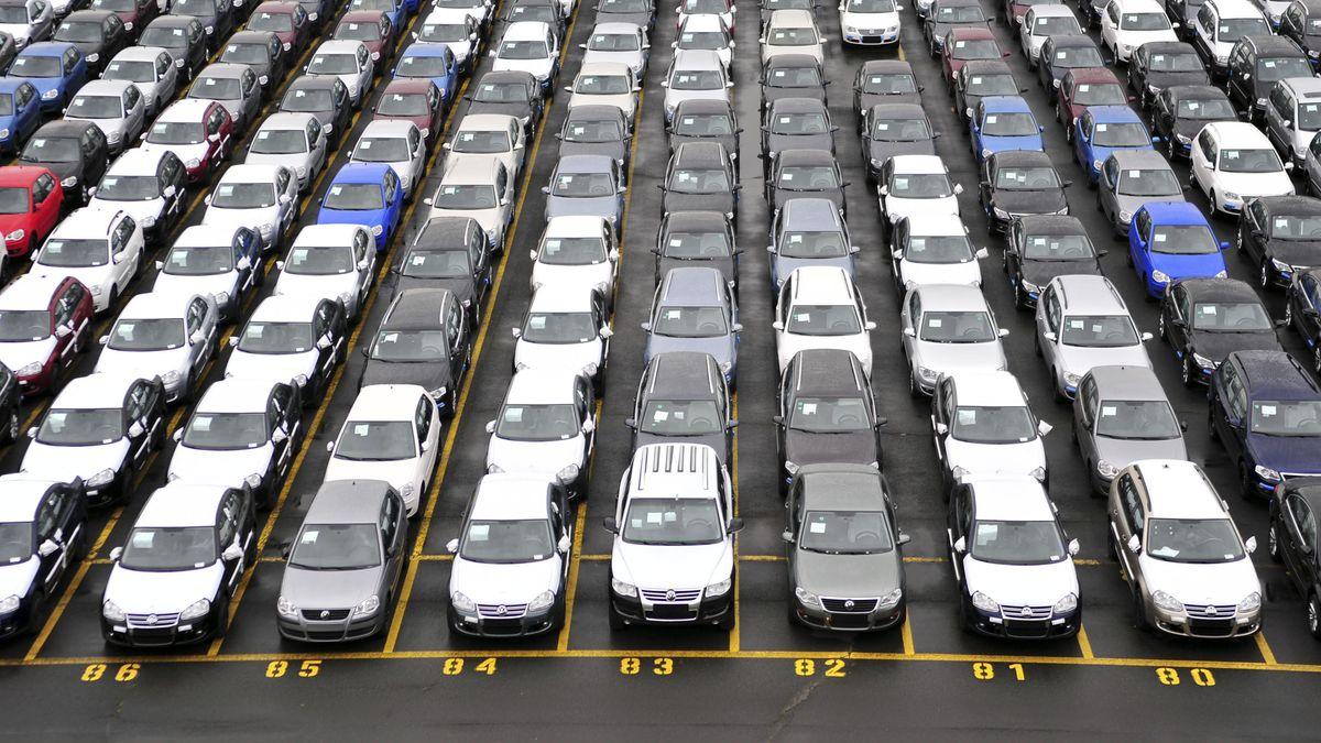 Automobile vor der Auslieferung