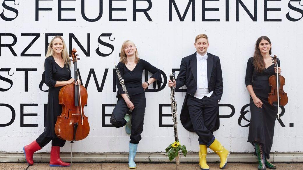 Ankündigung für die Auftaktveranstaltung zu Staatphilharmonie Nürnberg will CO2 neutral werden
