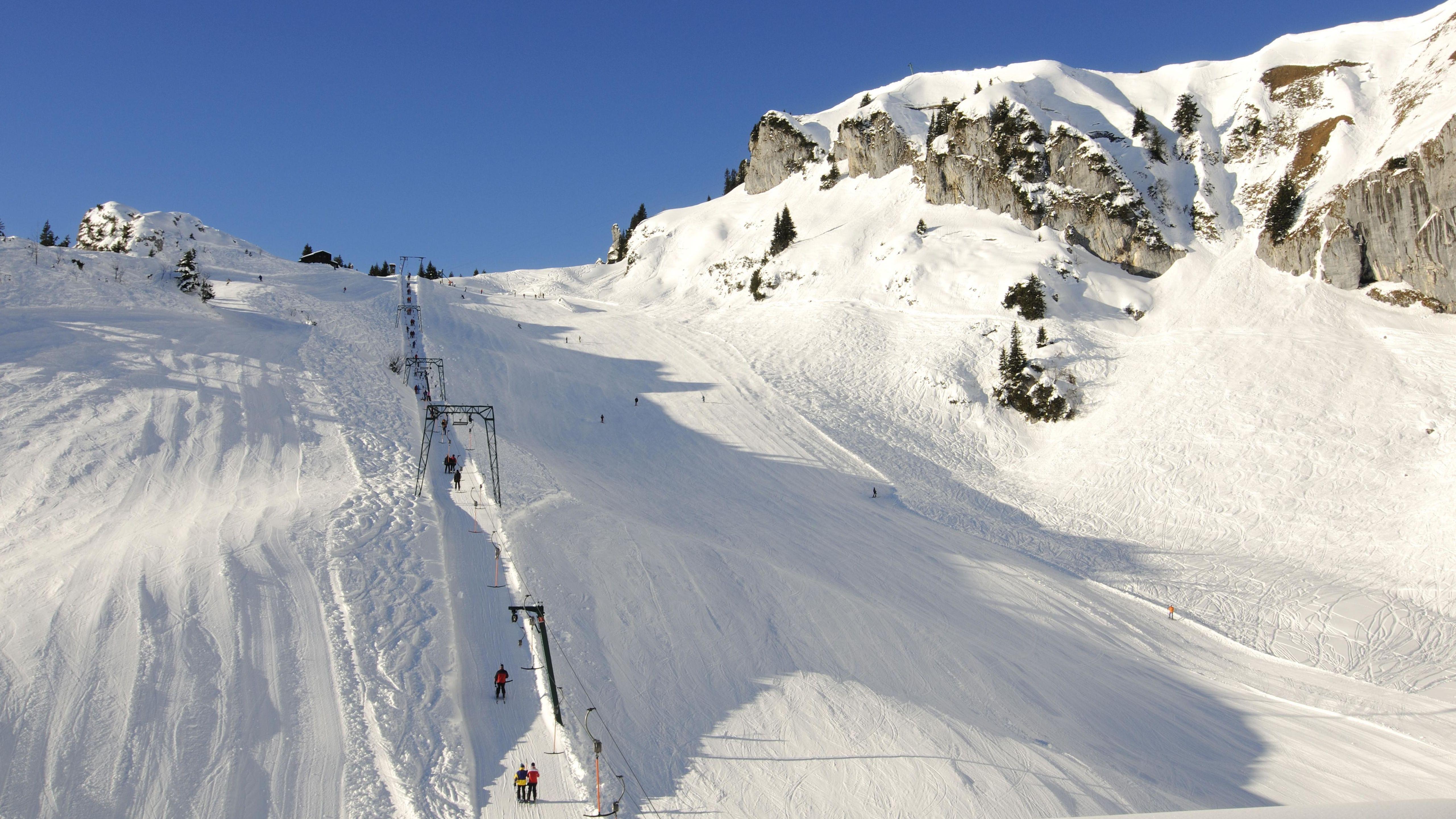 Skigebiet am Brauneck.