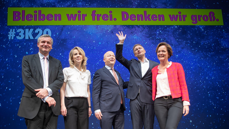 Hans-Ulrich Rülke, Linda Teuteberg, Michael Theurer, Christian Lindner, und Anna-Elisabeth von Treuenfels-Frowein.