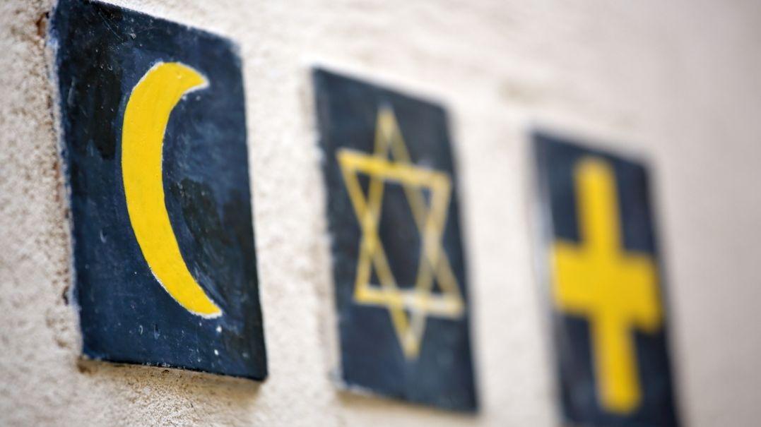 """Unter dem Motto """"Grüß Gott und Shalom"""" wurde beim Empfang das Festjahr 1700 Jahre jüdisches Leben in Deutschland gefeiert."""