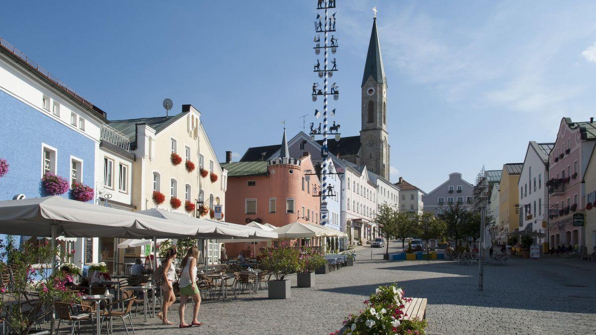 Der Stadtplatz von Waldkirchen