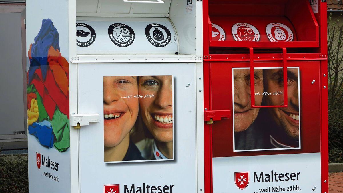 Symbolbild Altkleidercontainer Malteser