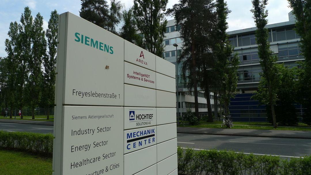 Siemens Energy Sector Erlangen, Infotafel