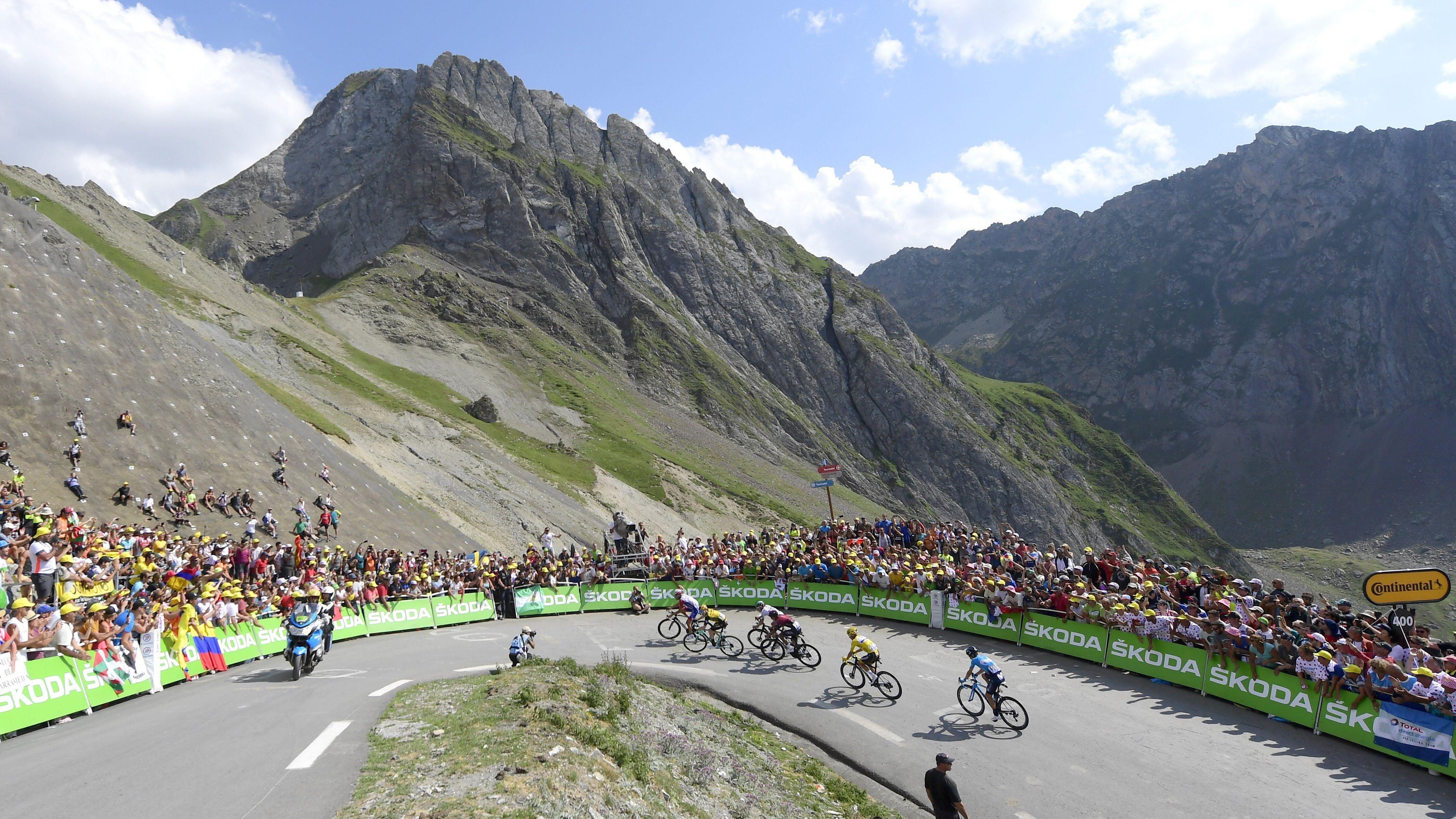 Radsportler auf der 14. Etappe der Tour de France