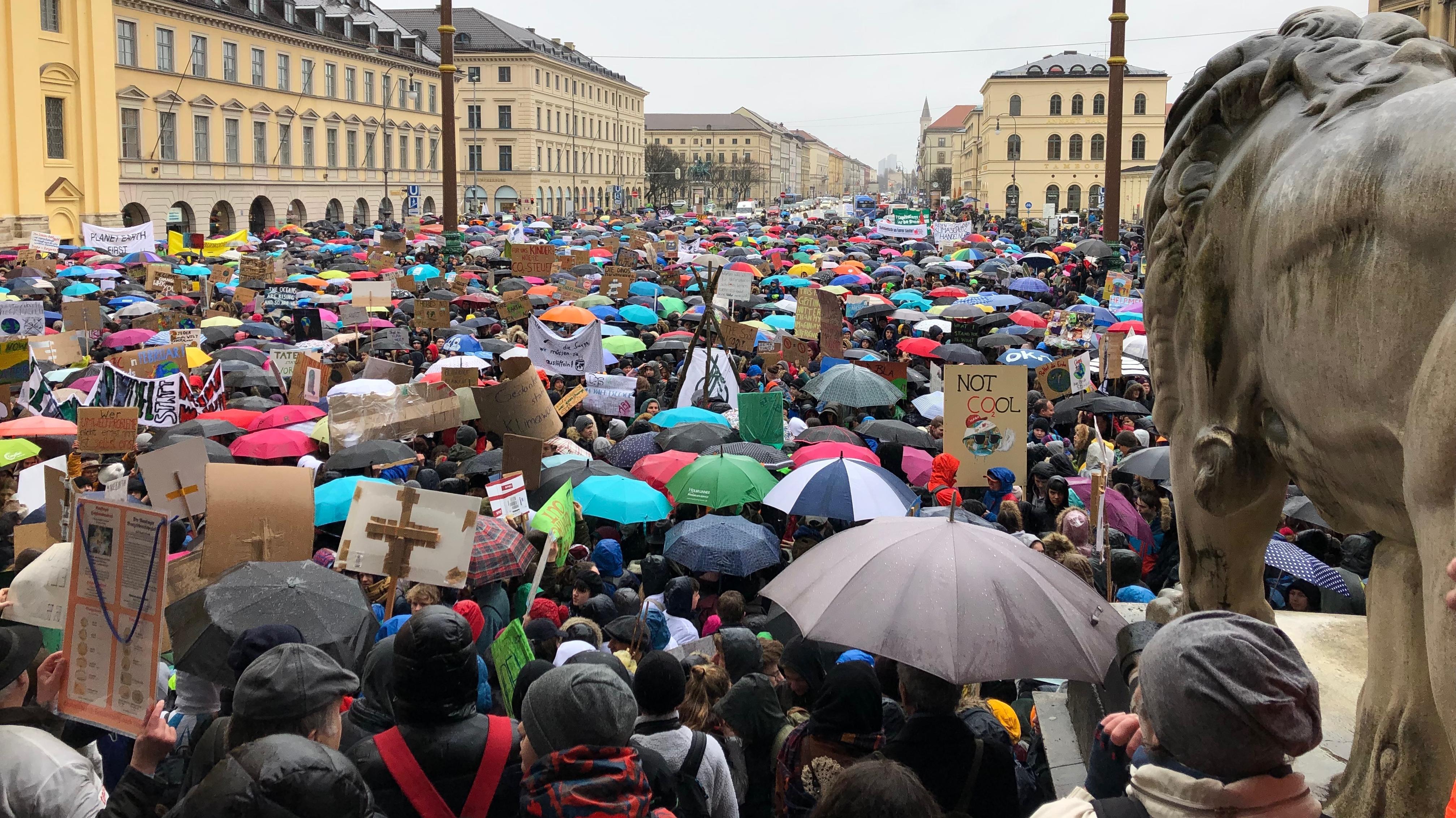 Auch in Bayern findet die Bewegung viel Zuspruch. Die größte Kundgebung findet in München statt ...