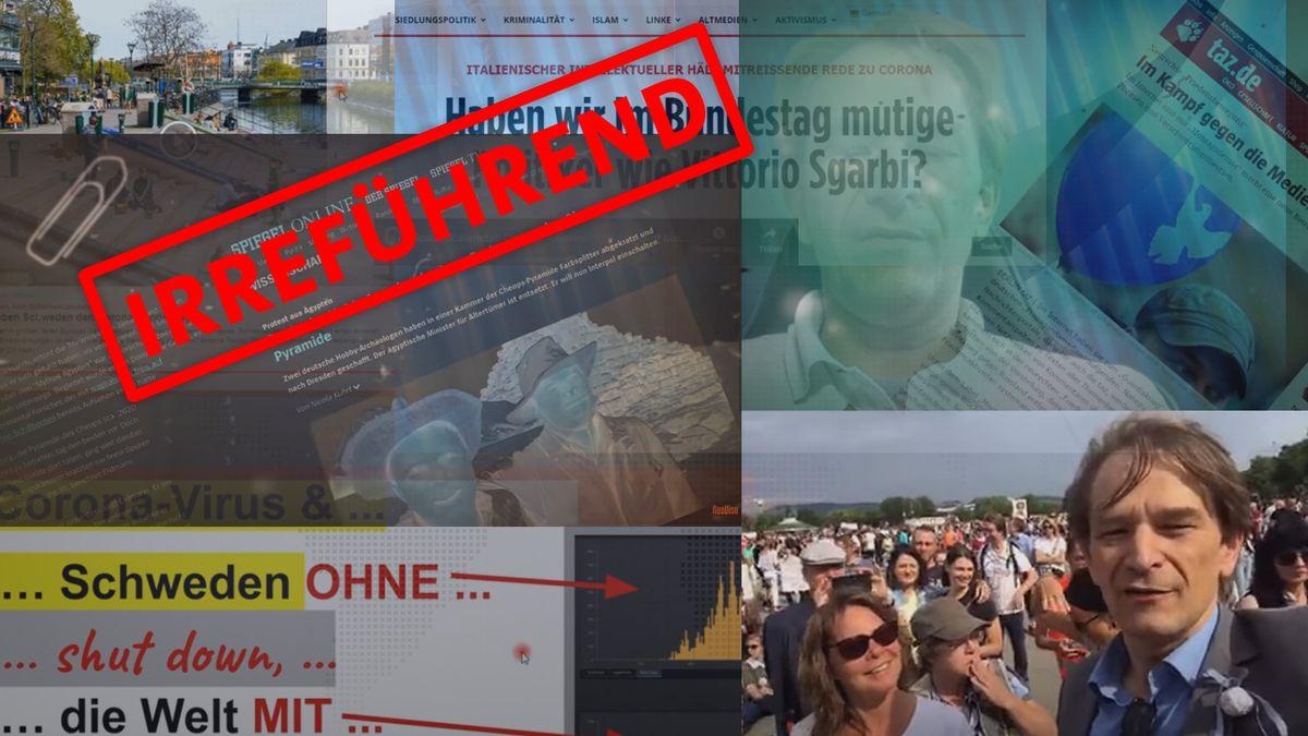Collage aus verschiedenen Screenshots von Videos des Arztes Bodo Schiffmann
