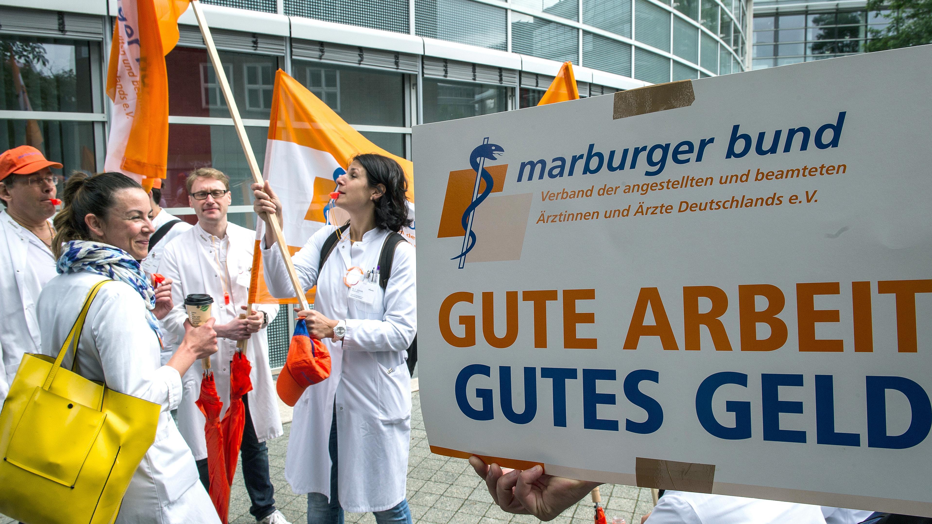 Symbolbild protestierende Ärzte