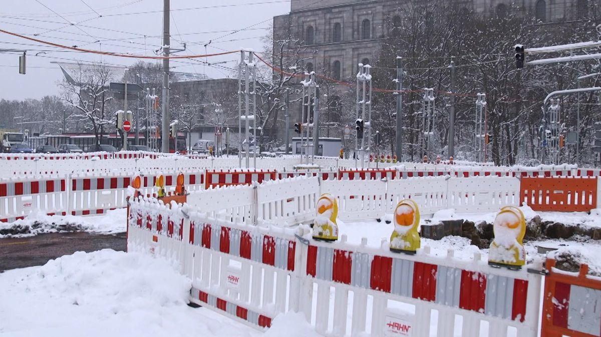 Großbaustellen 2021 in Nürnberg
