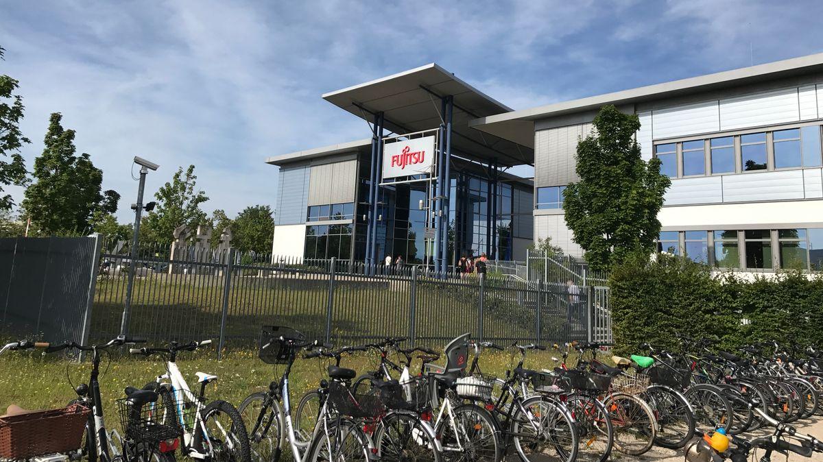 Außenansicht des Fujitsu-Standorts in Augsburg