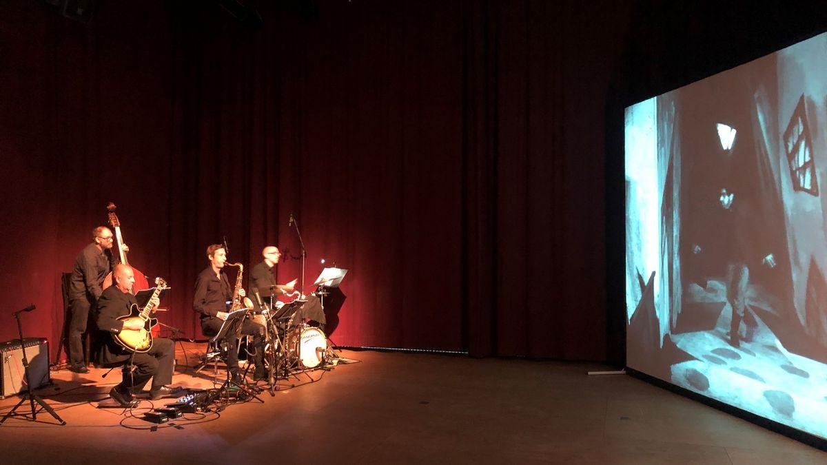 """Das Jazz-Ensemble """"Küspert und Kollegen"""" vertont einen Stummfilm"""