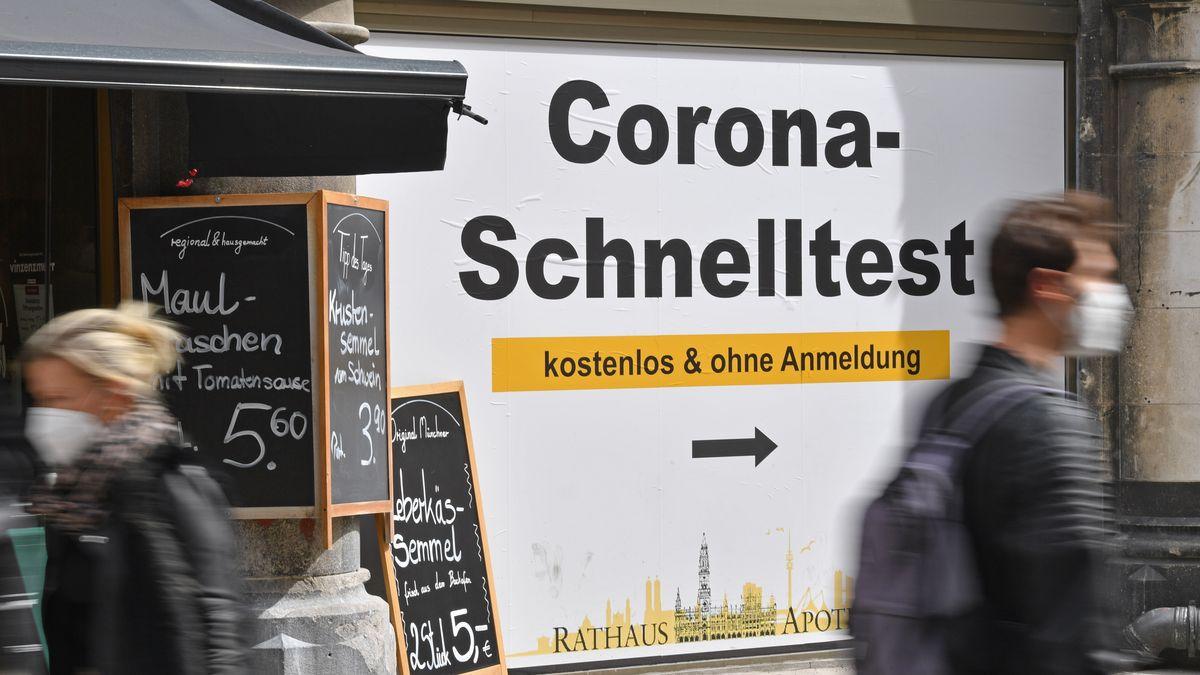 Schnelltest-Angebot in München.