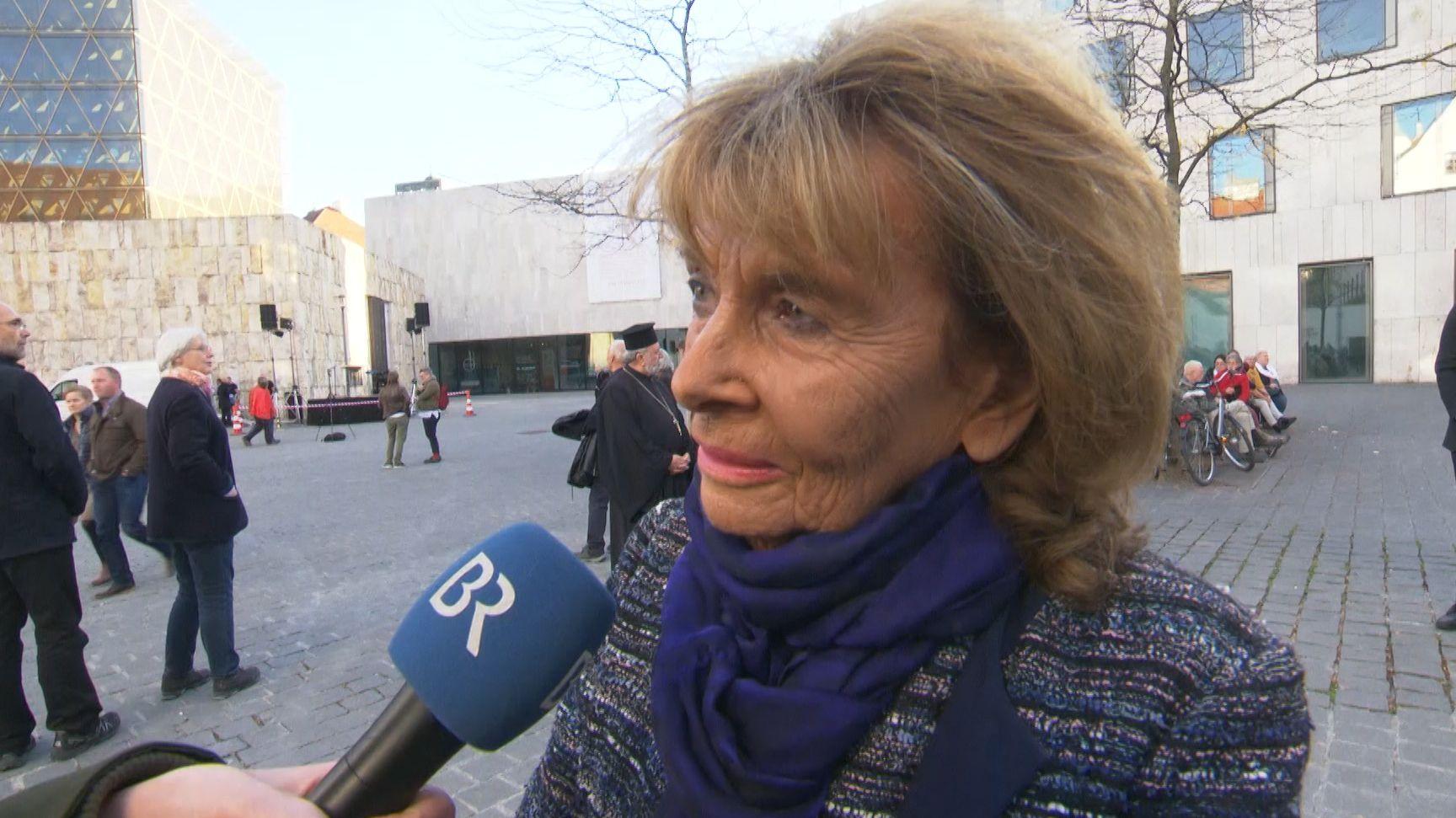 Charlotte Knobloch, die Präsidentin der Israelitischen Kultusgemeinde in München im BR-Interview.