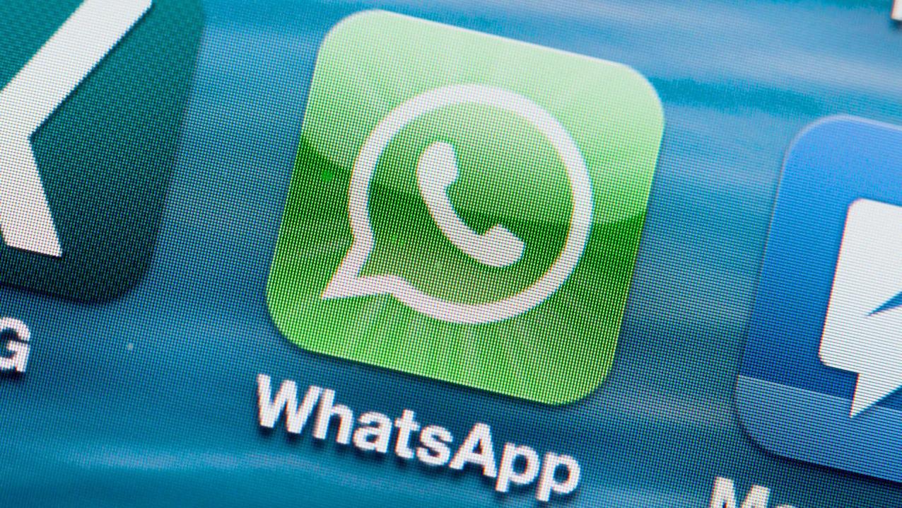 WhatsApp-Icon auf einem Smartphone