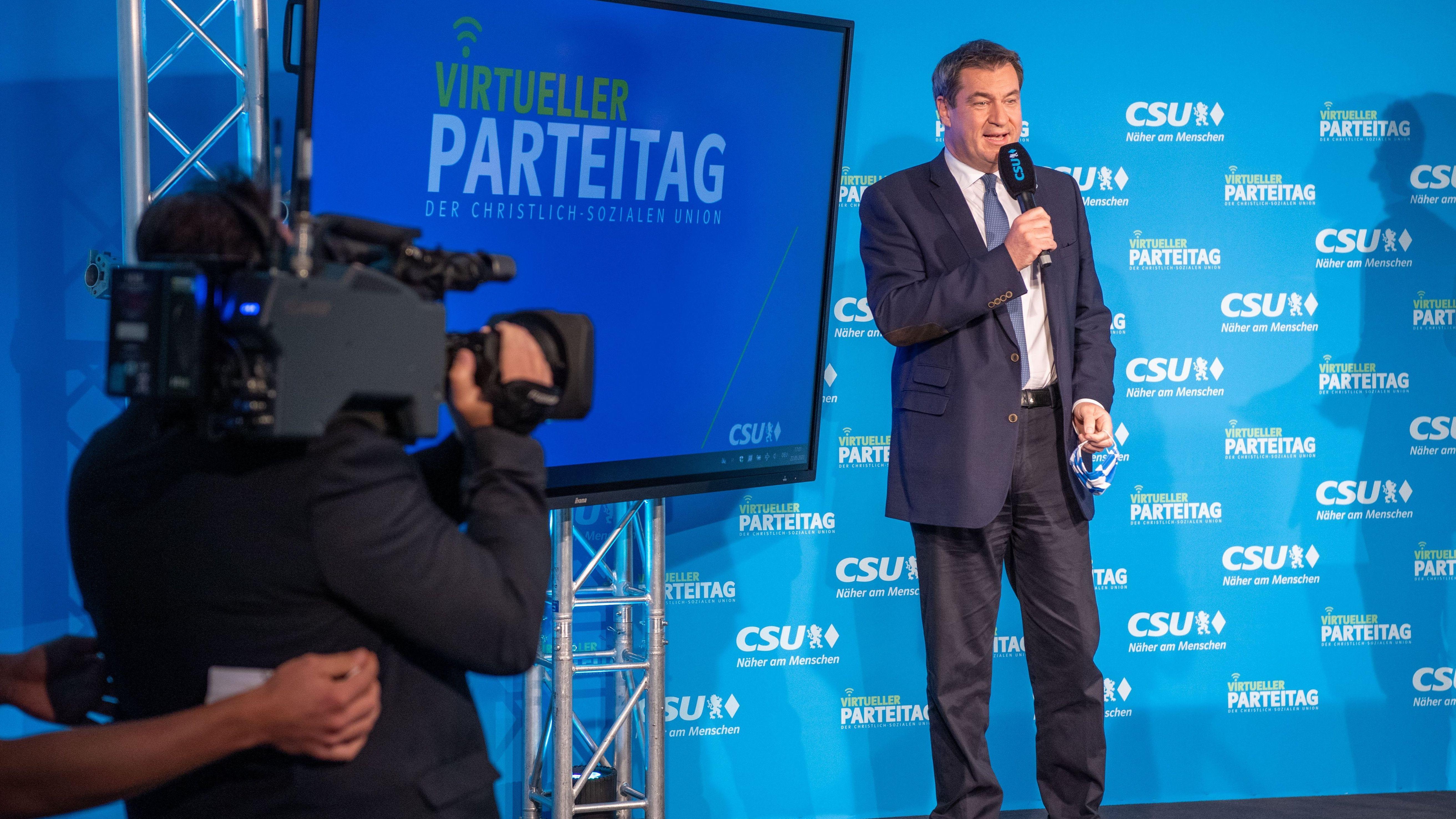 Söder auf dem virtuellen CSU-Parteitag
