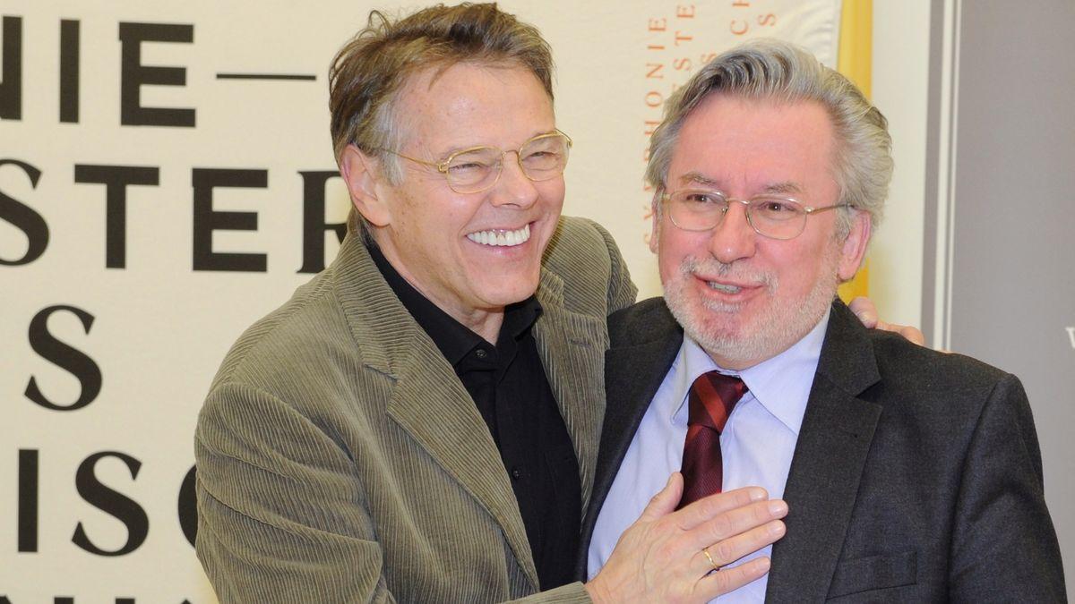 Mariss Jansons (l.) und Dr. Johannes Grotzky
